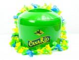 Canario Cachaca, Eiswürfelkühler, Eisbox, Eiswürfelbehälter m. Zange und Hawaiikette
