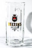 Veltins Bier Brauerei Krug, Bierglas, Moldau-Seidel, Sahm 0,4 l