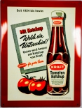 Original Kraft´s Tomaten Ketchup  Retro, Blechschild Werbeschild