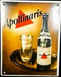 Apollinaris, Werbeschild Emaille, 70er Jahre, 37 x 29 cm, gebraucht