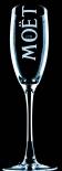 Moet Chandon, Champagner Glas, 0,1l Echo Brand, neueste Ausführung