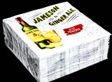 50 x Jameson Whiskey Papier Servietten, Ginger Ale, 25 x 25cm