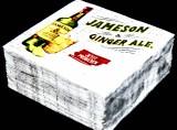 50 x Jameson Whiskey Papier Servietten, Ginger Ale, 25 x 25cm