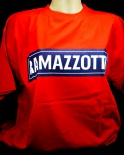 Ramazzotti Likör T-Shirt, Ramazotti blau Rund-Ausschnitt, rot, Gr.XL