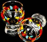 Likör 43 Stamper, Limited Edition, bunt, Perle im Fuß, Gläser, Spanisch