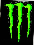 Monster Energy, Original Aufkleber, Sticker, Kralle