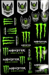 Monster Energy, Original 19x Army Aufkleber, Sticker Motocross, Bmx