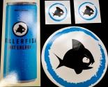 Killerfish Energy, Original 4x Aufkleber, Sticker, Surfer