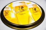 Hasseröder Bier, Serviertablett, Rundtablett, gold/schwarz gummiert, 36 cm