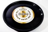 Warsteiner Bier, Serviertablett, Rundtablett, schwarz gummiert, 36 cm