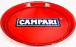 Campari Likör, Serviertablett, Rundtablett, transparent, rot, 37cm