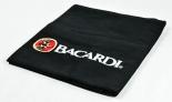 Bacardi Rum Kellnerschürze, Bistroschürze, schwarz, lange Ausführung