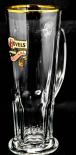 Hövels Glas / Gläser, Bierglas / Biergläser, Goldrand, Habsburg Seidel 0,5l