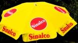 Sinalco Limonade Sonnenschirm, runde Ausführung, gelb