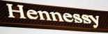 Hennessy Cognac Barmatte, Abtropfmatte, braun.