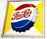 Pepsi Cola sehr altes Blechschild, Werbeschild, 60er / 70er Jahre.