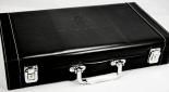 Holsten Pilsener Pokerkoffer Set in Leder schwarz, abschließbar, sehr edel...