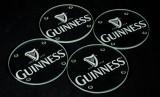 Guinness Beer Bier, 4 x Glas-Untersetzer, satiniertes Logo, sehr edel...