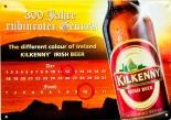 Kilkenny Bier Brauerei, Blechschild Werbeschild, Ewiger Kalender