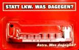 Astra (Bier) Frachtschiff Statt LKW. Was dagegen? St Pauli Hamburg Kiez