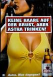 Astra Bier A2 Poster Keine Haare auf der Brust, aber Astra trinken Kiez