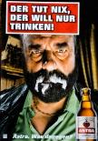 Astra Bier A2 Poster Der tut nichts, der will nur trinken Kiez