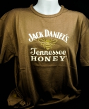 Jack Daniels Whiskey, Honey T-Shirt - Gr. L - Full Logo - hohe Qualität!!