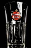 Havana Club Longdrink-Glas, schlanke Form, 14 x 8,5 cm, 2/4 cl Markierung