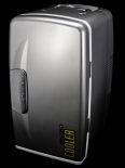 Holsten Pilsener Cooler, Minikühlschrank, Silber Hochglanz