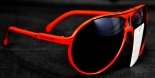 Southern Comfort Kunststoff / Metall Sport - Sonnenbrille, rot uv 400