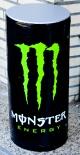 Monster Energy, aufblasbare Dose, schwarz, Badespaß