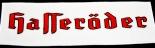 Hasseröder, TOP Bügel-Aufnäher gestickt, Mittel, 20,5 cm x 6,7 cm