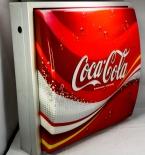 Coca Cola Leuchtreklame, Neonleuchte, Leuchtwerbung in Alugehäuse, gewölbt