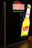 Desperados Bier, LED, Kreidetafel, Leuchtreklame, sehr edle Ausführung
