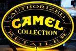 Camel Filter Neon Leuchtreklame oval, auf Standfuß, DER HAMMER