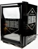Goldberg Tonic, LED Firgoo Minicooler SC21, Kühlschrank, schwarz, weiße Schrift