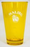 Malibu Rum, Longdrinkglas, Cocktailglas, Sammelglas 5cl, gelb