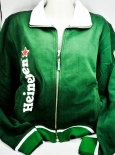 Heineken Bier, Sweat-Jacke, Bund, grün, Reißverschluss, Champions League, Gr. M