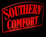 Southern Comfort, LED, Acryl Leuchtreklame, rot, Barbeleuchtung