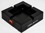 Marlboro Metall Aschenbecher eckig, schwarz Black Line Table 2010