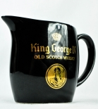 King George IX Scotch Whisky Pitcher, Wasser Karaffe, schwarz