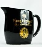 King George IX Scotch Whisky Pitcher, Wasser Karaffe, schwarz