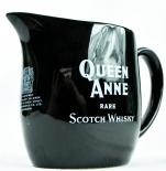 Queen Anne Scotch Whisky Pitcher, Wasser Karaffe, schwarz