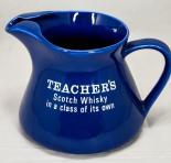 Teachers Scotch Whisky, Pitcher, Wasser Karaffe, blau, große Ausführung