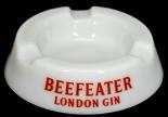 Beefeater Gin, Glas Aschenbecher, weiß satiniert