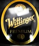 Wittinger Bier Werbeschild, Premium Reklameschild, Emaille Schild 70er Jahre