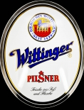 Wittinger Bier Werbeschild, Pilsener Reklameschild, Emaille Schild 70er Jahre