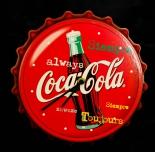 Coca Cola, Wanduhr, Uhr, Kronkorken-Optik, always, siempre, toujours, zawsze
