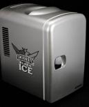 Smirnoff Vodka Black ICE Kühlschrank Cooler & Warmer, silber matt, Ausstellungsstück