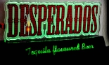 Desperados Tequila Bier, LED Leuchtreklame, Neonreklame, Barleuchte, Neongrün